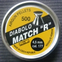 "DIABOLO MATCH ""R"", 500 STÜCK AIRGUN PELLETS"