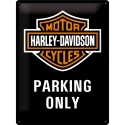 "Harley-Davidson ""Parking Only"" Blechschild 30x40cm von Nostalgic-Art"